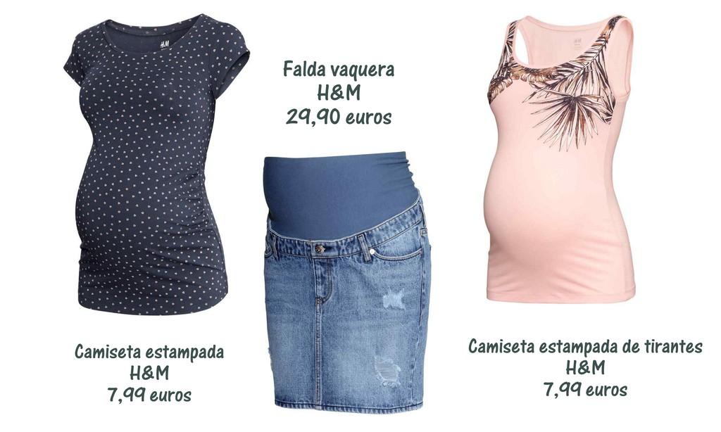 d2f670618 camiseta premama H M. falda premama H M