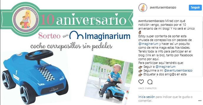 sorteo imaginarium instagram